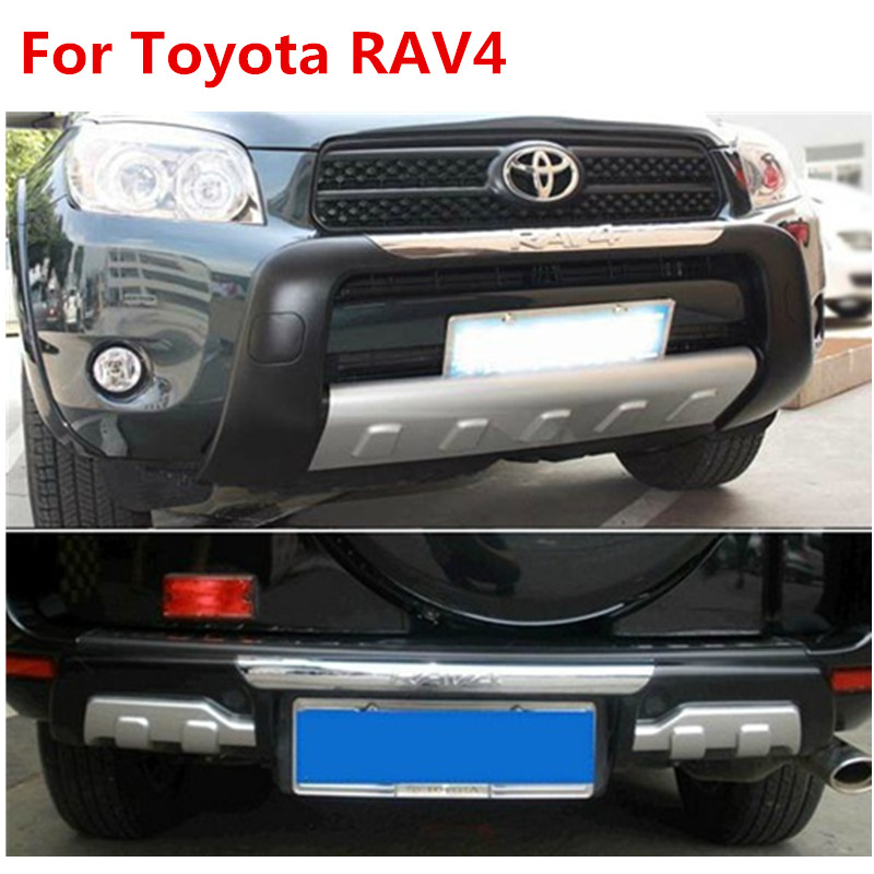 high quality plastic abs chrome front rear bumper cover trim bff for 2006 2011 toyota rav4 car. Black Bedroom Furniture Sets. Home Design Ideas