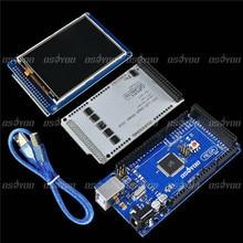 3.2 «TFT LCD Tactile + TFT 3.2 Pouce Bouclier Mega Bouclier + Mega2560 R3 avec Usb Câble Pour Arduino kit