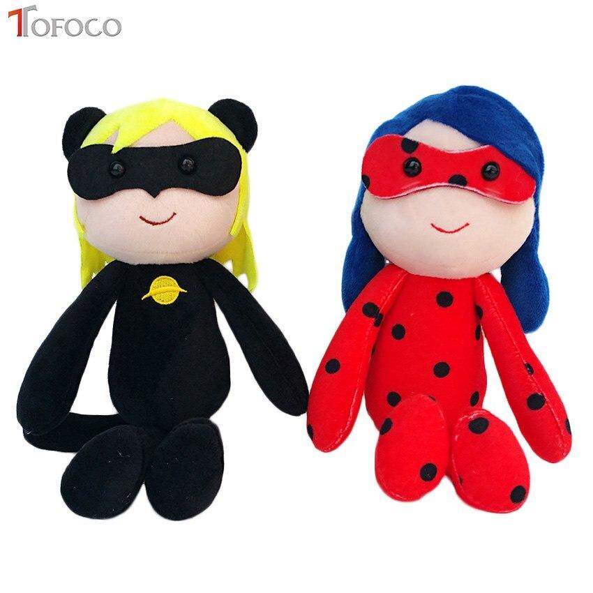 TOFOCO 25CM Miraculous LadyBug Cat Noir Adrien Marinette Plush Doll Figure Toys Soft Stuffed Dolls Toy For Kids Children цена 2016