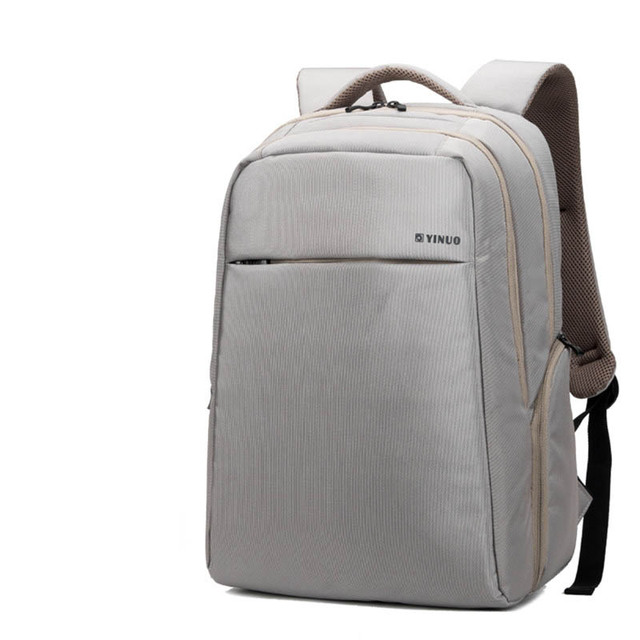 dd3b665dbc7 Imported Waterproof Polyester Men Business Casual Laptop Backpack Comfy  Breathable Travel Bag Women Fashion Schoolbag Rucksack