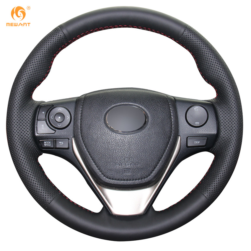 MEWANT Black Genuine Leather Car Steering Wheel Cover for Toyota RAV4 2013-2017 Corolla 2014-2017 Auris 2013-2016 Scion iM 2016 2 pieces of specialized in the production of wheel adapters wheel spacers 4 x100 suitable for toyota corolla vios and yaris