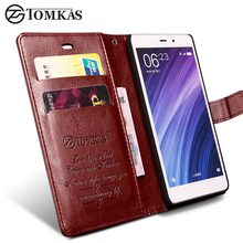 TOMKAS Xiaomi Redmi 4 Pro Case Redmi 4 Cover Flip Wallet PU Leather Phone Bag Case For Xiaomi Redmi 4 Pro Prime Business Cover