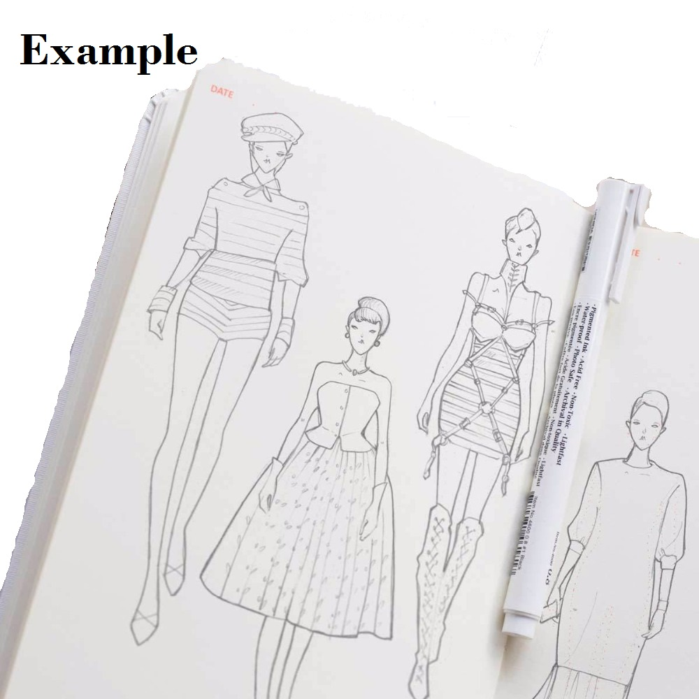 A5 Fashion Womens Purewhite A5 Sketch Book Drawings Fashion Drawing Templates Female Body Outline Notebooks Aliexpress