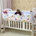 Baby bed storage bag 1pcs cotton diapers organizer baby bed hanging bag 4 pocket design for 120cm baby bed