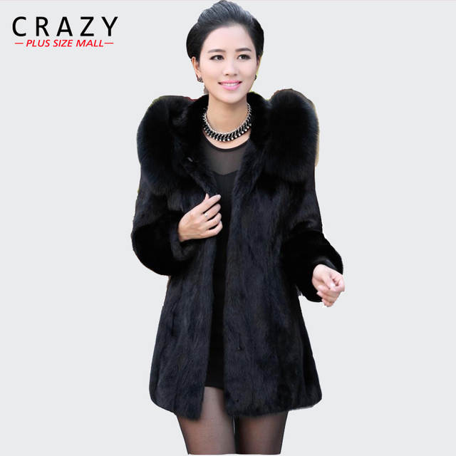 dc6d43d9ea0 Online Shop 2018 S - 6XL Women Winter Hooded Fake Fur Coats Plus Size 7XL  5XL Vintage Artificial Black Big Size Faux Fox Fur Coat With Hood