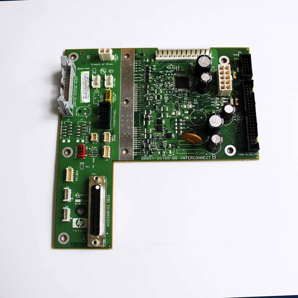 Q6651-60056 Backplane board - Interconnecting board for HP DesignJet Z6100 Z6100PS plotter parts Original new q6651 60048 hp designjet z6100 42 inch b0 spindel printer series used