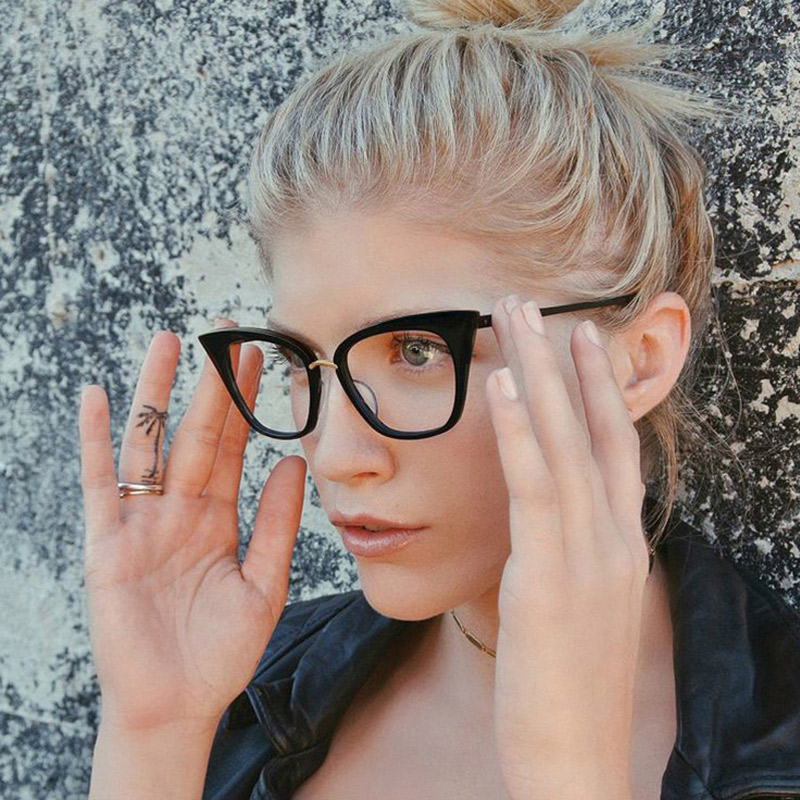 Woman Optical Eyeglasses Fashion Female Stylish Frame Spectacles for Women Prescription Eyewear Glasses Frame Cat Eye Style in Women 39 s Eyewear Frames from Apparel Accessories