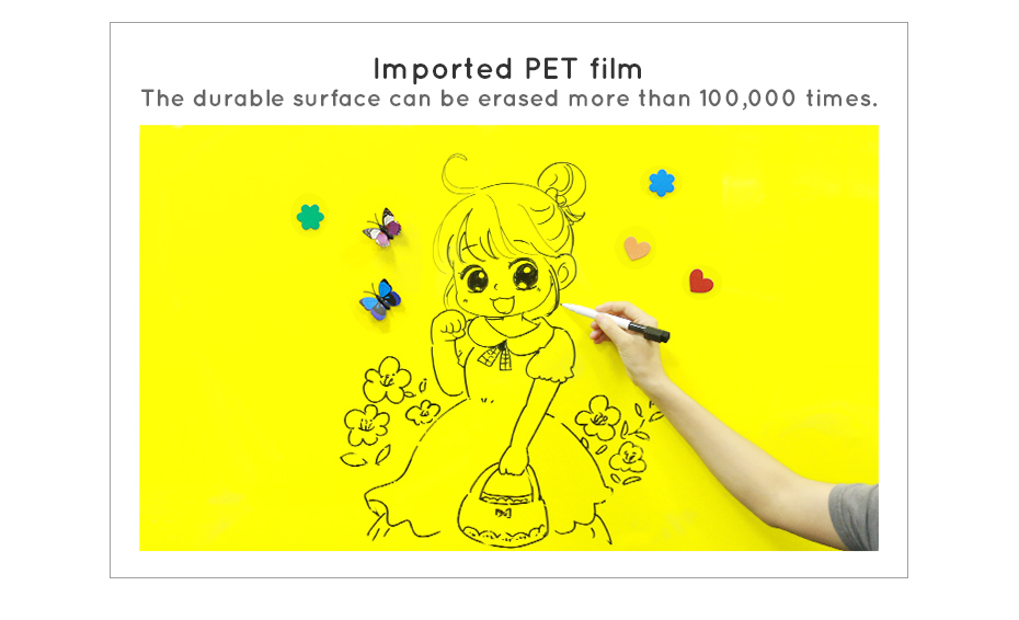 930_09DIY Whiteboard Writing Board Dry Wipe Ferrous Whiteboard Message Yellow Board 120 x 80 cm x 0.6 mm