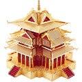 """""""Сторожевая башня"""" запретного города Здание P075-RG DIY Piececool 3D лазерная резка головоломки DIY Металл модель Игрушки Для Аудита"""