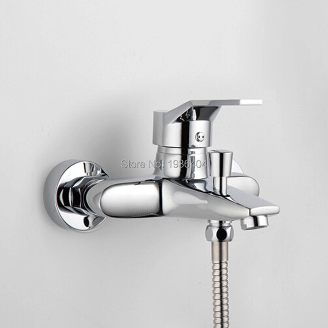 chrome shower mixer shower sets hot and cold mixing valve chrome polish bathroom shower set cs1002