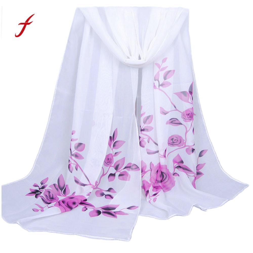 FEITONG Scarves For Women Fashion Long Soft Wrap scarf Ladies Shawl Chiffon Scarf New Spring Elegant Stole Scarves For Female