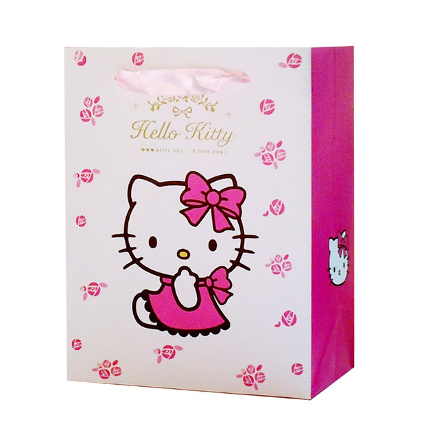 6b313bb90ed4 Hello Kitty cartoon Gift bag paper bag package for present packing for girls  kid