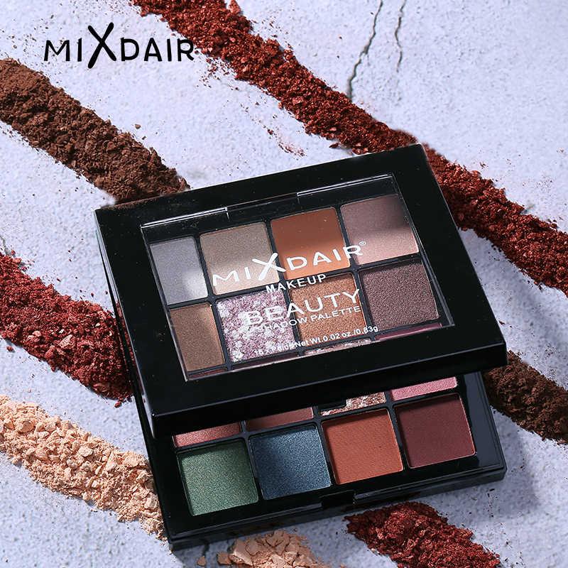 MIXDAIR тени 16 цветов мерцающие матовые тени для век Палитра очаровательные пигменты легко носить тени для век Блеск для макияжа