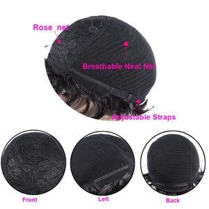 Image 5 - Korte Vinger Wave Pruiken Korte Bob Pruiken Voor Vrouw Korte Pixie Cut Pruik Braziliaanse Remy Human Hair Korte Pruiken Mix kleur 1B 2 # TIANTAI