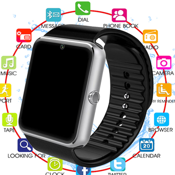 New Bluetooth Smart Watch Men GT08 With Touch Screen Big Battery Support TF Sim Card Camera For IOS iPhone Android Phone