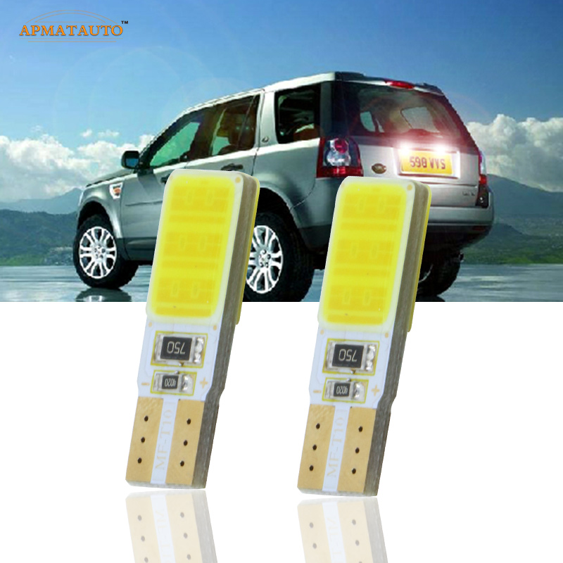 2 x T10 W5W License Number Plate Light LED Bulbs Lamp For Land Rover Discovery Range Rover Evoque Freelander Defender
