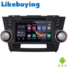 "Likebuying 8""HD Quad Core 1024*600 2 Din Android 4.4.4 Car Stereo For Toyota Highlander 2008-2011 DVD GPS Navigation Auto Radio"
