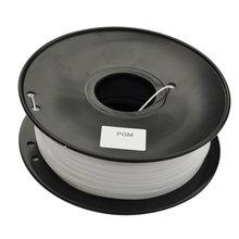 Material plástico dos materiais de consumo do filamento pom da impressora 3d (polyformaldeído) 1.75mm/3mm 1kg/2.2lbs