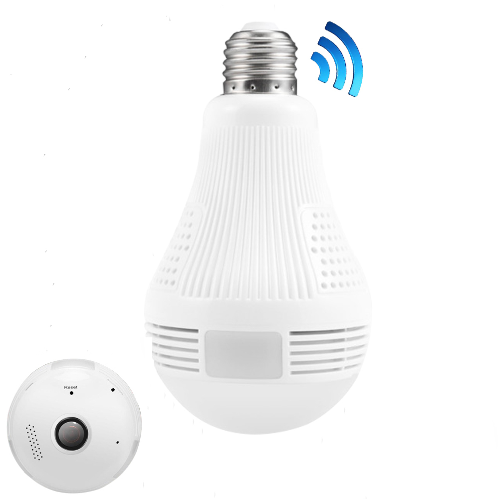 360 Degree Wireless IP Camera Wi-fi Bulb Light FishEye Smart Home CCTV 3D VR Camera 3MP Home Security WiFi Camera Panoramic vr360 panoramic camera wi fi remote control sports action camera
