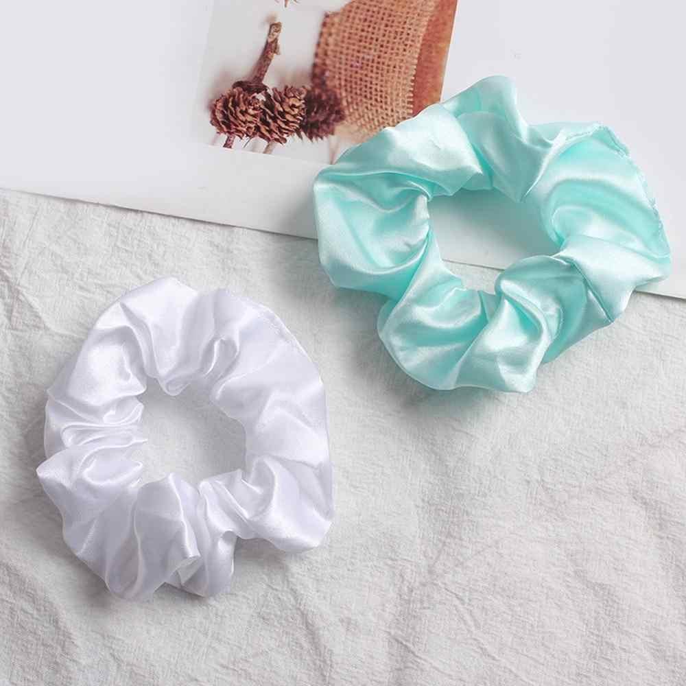 2019 סאטן/קטיפה שיער פצפוצי נשים אלסטי להקות שיער בנות בארה 'ב בהיר צבע משי קוקו מחזיק שיער עניבת אבזרים