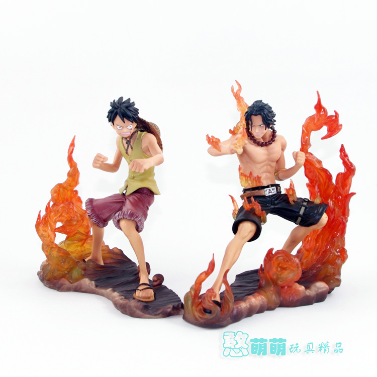 Free Shipping Japanese Anime Cartoon One Piece 2 Years Later Luffy VS Ace PVC Action Figure Toys Dolls 14cm 2pcs/set japanese anime cartoon one piece tony tony chopper 2 years later pvc action figures toys 5pcs set with box
