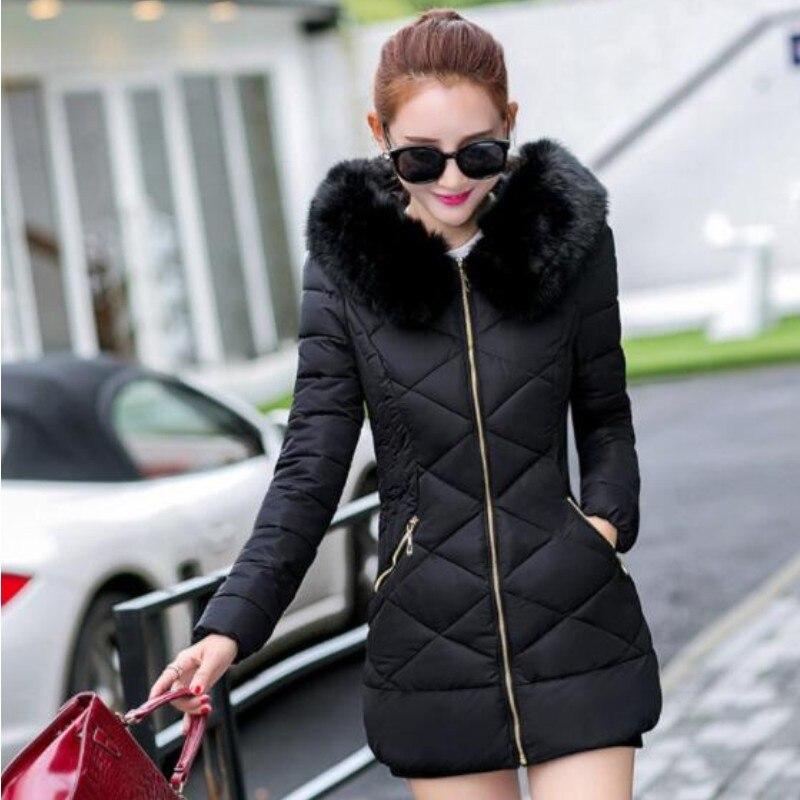YSMARKET 5 couleur M-3XL mode hiver hauts Long manteau femmes doudoune fausse fourrure col épais chaud à capuche manteaux E8845