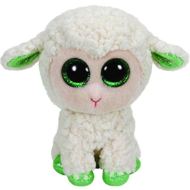 Pyoopeo Ty Beanie Boos 10 25cm Lala The White Lamb Plush Medium