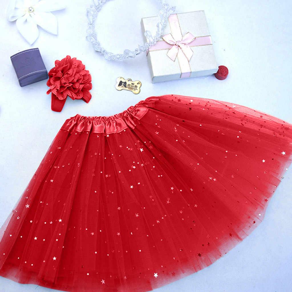 Niños niño bebé niña princesa vestido de los niños chica enagua Paillette estrella Pettiskirt banda de pelo Tutu falda de danza