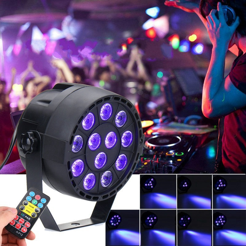 Best Promotion UV Purple LED Stage Light DMX Stage Lighting Effect Par Lamp For Party Disco Club DJ Holiday Decor Lights Lamp 2xlot sales 2016 led par light 7x15w rgbwa 5in1 100w dj disco dmx stage lights par can led effect club party lighting free ship
