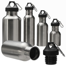 350/500/750ML Stainless Steel Wide Mouth Drinking Water Bottle Outdoor Travel Sports Cycle Drink Bottles Kettle Outdoor Tools(China)