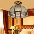 European Style Copper Art Ceiling Lights bedroom Study Room Balcony Corridor Ceiling Lamps All Copper Lamps 1966