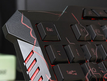 Gaming Keyboard 3 Backlight Modes Keyboard USB Powered 19 Keys Conflict for DOTA LOL