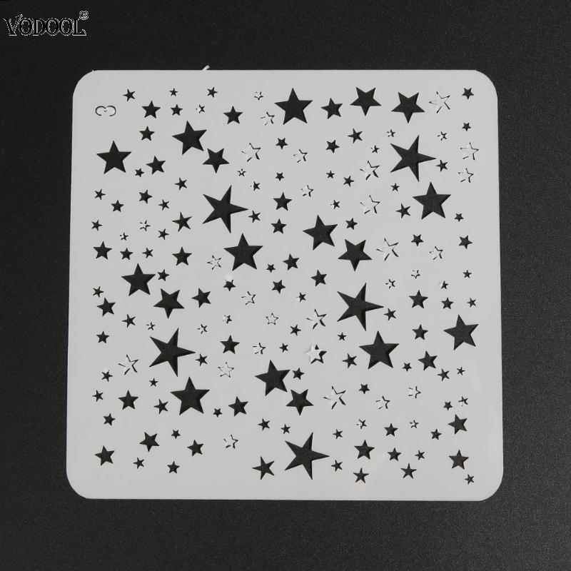 DIY Starry Star Shape Layering Painting Template Stencils for Painting Scrapbooking/photo Album Embossing Paper Cards Crafts cutiepie kinds of 0 9 numbers transparent clear stamps for scrapbooking diy silicone seals photo album embossing folder stencils