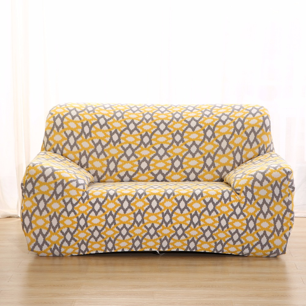 Helder Monily Elastische Materiaal Barokke Geometrie Flamingo Patroon Spandex Kussenovertrekken Sofa Covers All-inclusive Sofa Handdoek Bank Case