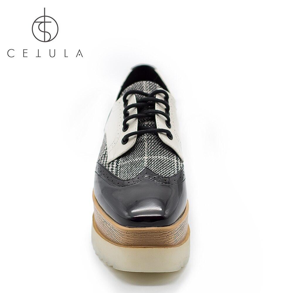 Lacets Main Cetula Chaussures Swallow Brevet Black Talons Oxford Texture Bois forme 2019 Hauts Classique Fabriqués Grille La Derbies Ft Jazz Femmes Plate À 6ArrwIqY