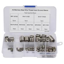65Pcs M2.5-M12 Thread Repair Insert Kit Coiled Wire Threaded Insert Stainless Steel Thread Helical Screws Sleeve Set Fasteners(China)