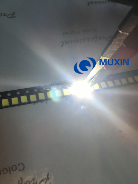 200pcs LED SMD 2835 Chip White 60mA 0.2W 21-23LM 2835SMD LED Light Emitting Diode Lamp SMT Surface Mount SMD2835 LED Beads