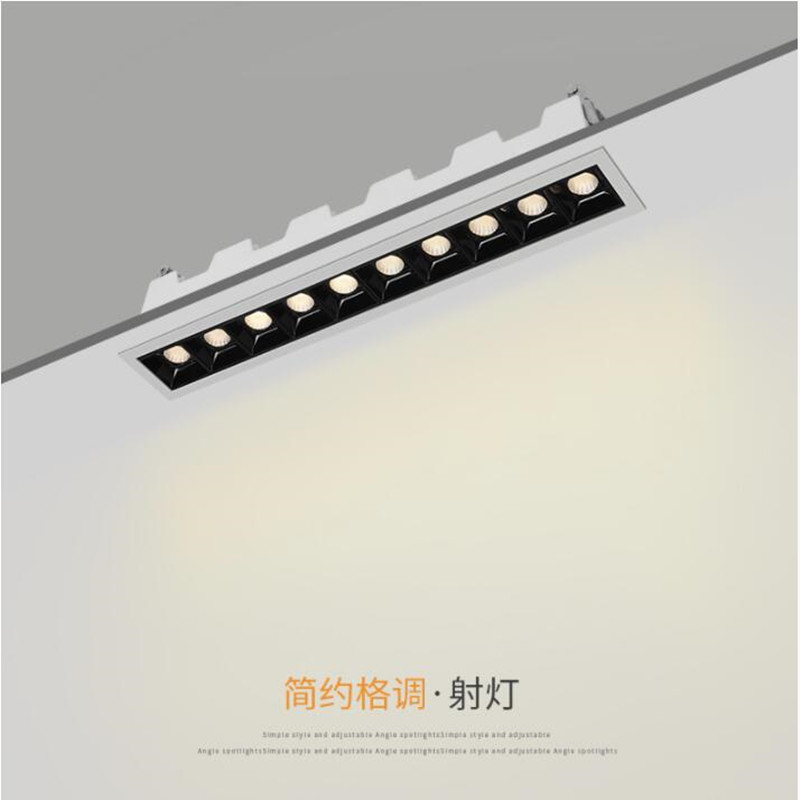 High Quality LED 2W 4W 10W 20W 30W Downlight Spot Light Indoor Recessed Ceiling Lighting Linear Laser Blade Ceiling Line Lamp
