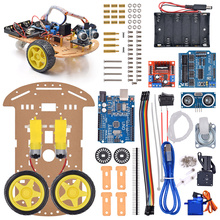 New Avoidance tracking Motor Smart Robot Car Chassis Kit Speed Encoder Battery Box 2WD Ultrasonic module 10pcs d2 1 tt motor diy kit intelligent tracking line smart car kit motor electronic production smart patrol automobile parts