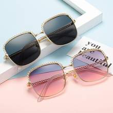 GYKZ Retro Square Sunglasses Women Oversized UV400 Gradient Luxury Glass Female Vintage Gafas Big Size Shades Polarized Eyewear