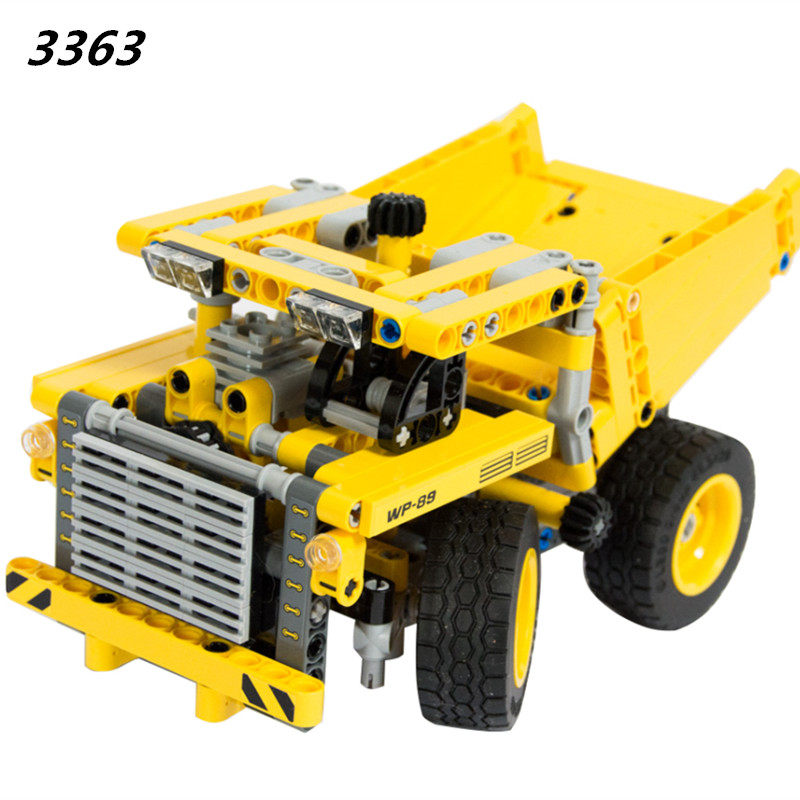 2018 New Mini Truck Building Block Bricks Toy Boy Game Model Car Gift Compatible with 42035 DIY Educational Gift Toy