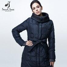 Snowclassic winter jacket women 2016 Sashes Long Women  Hood Fashion Parkas Winter female jacket 16274