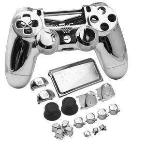 Image 2 - JDS040 JDM040 PS4 PRO 4.0 V2 denetleyici krom kaplama konut Shell kapak kılıf düğme mod seti yedek Playstation 4 Pro için