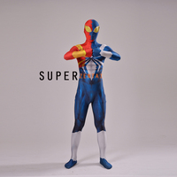New Iron Spider Armor Venom Symbiote Spiderman Costume Lycra Spandex Zentai Full Body Suit Halloween Cosplay Spidey Suit