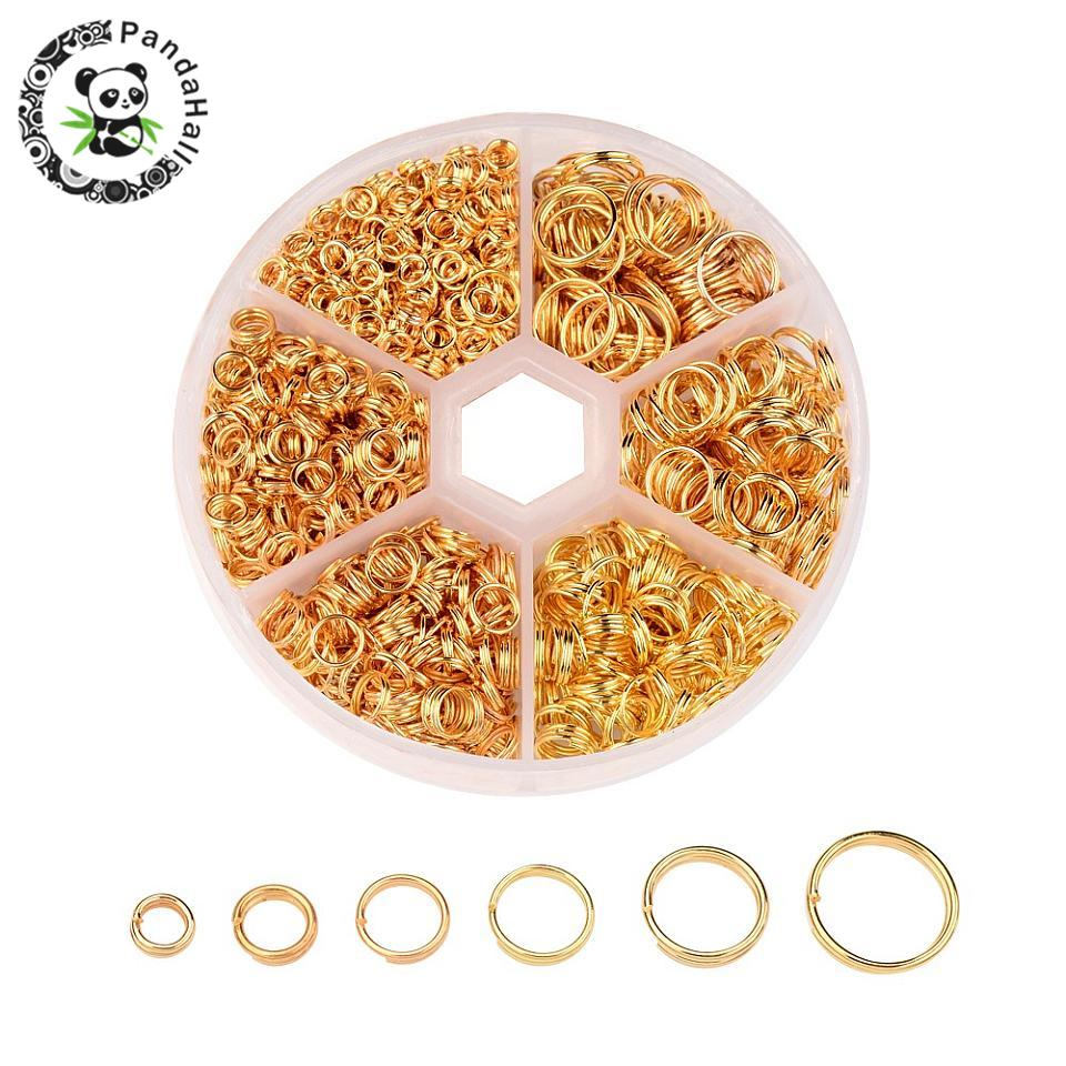 1 Box Mixed Split Iron Double Jump Rings ForJewelry Making DIY 4 5 6 7 8 10mm Golden/Silver/Antique Bronze/Red Copper /Platinum