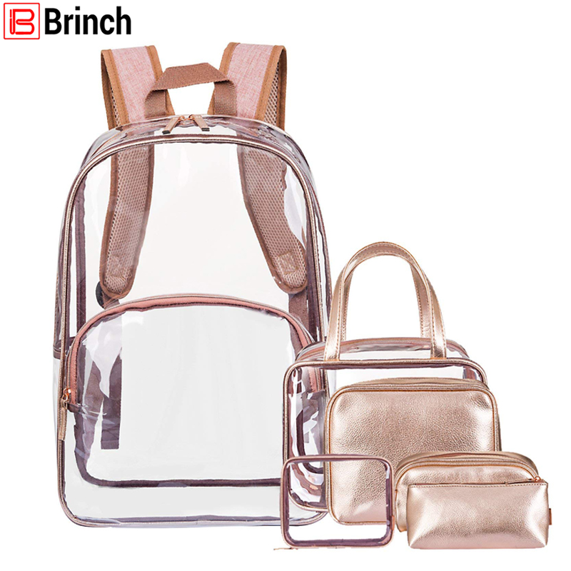 Multi functional Backpack Clear Plastic Transparent Backpacks Women Travel Bag Satchel PVC Schoolbag For Girls Boys Knapsack-in Diaper Bags from Mother & Kids    1