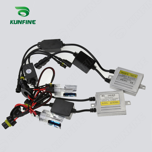 12V 35W X3 Canbus HID Conversion Xenon Kit 9007 Bulb Car Headlight With Slim AC Ballast For Vehicle