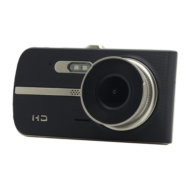 New Full HD 1080P 4 Inch IPS HD Screen 2 Lens Car DVR Camera Video Recorder Dual Camera Dash Cam 2 LED Night Vision Dual Lens