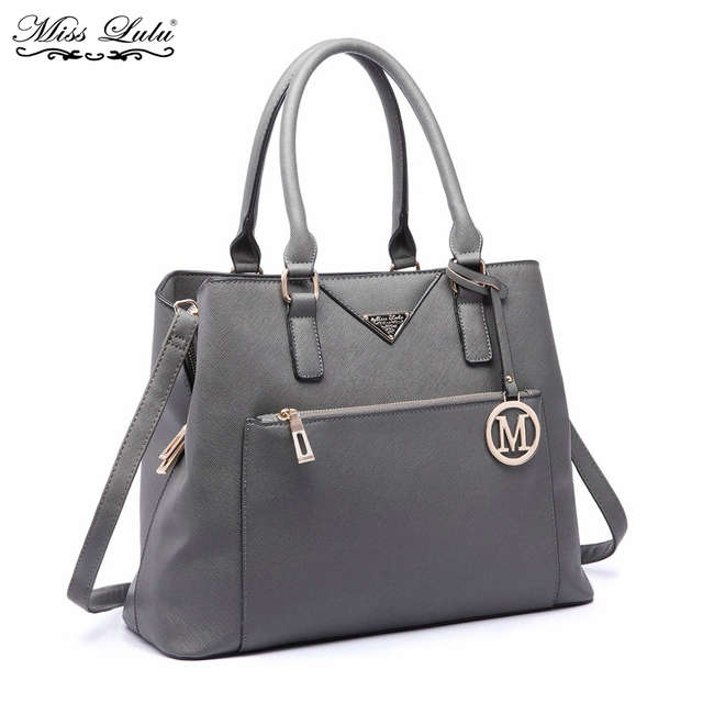 ab93426ecbd Miss Lulu Women Designer PU Leather Handbags Ladies Shoulder Bag Female  Fashion Large Tote Girls Cross Body Bags LT6611-in Shoulder Bags from  Luggage ...