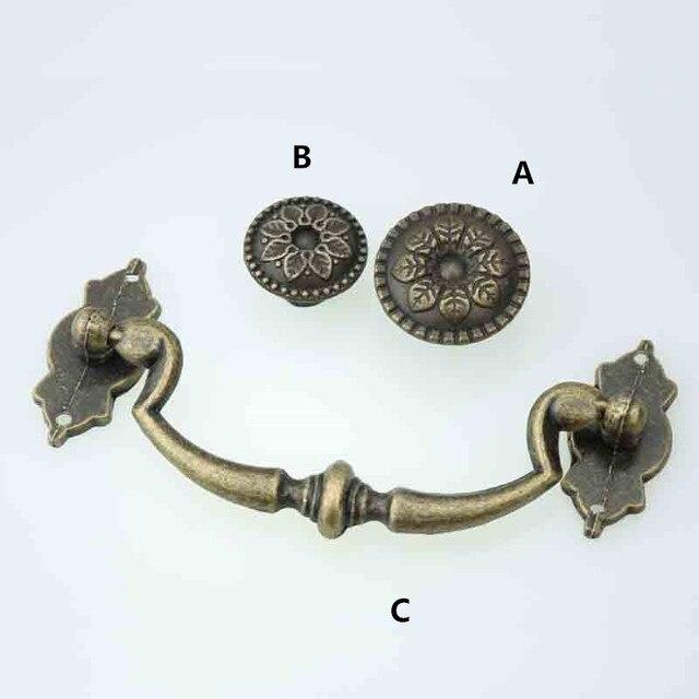 Rustico retro entfalten installieren möbel ringe griffe bronze ...